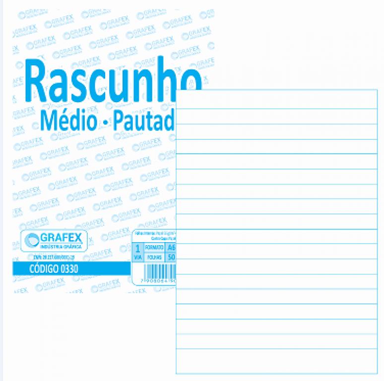 GRAFEX - RASCUNHO MEDIO PAUTADO F050 - PT.10 BLS