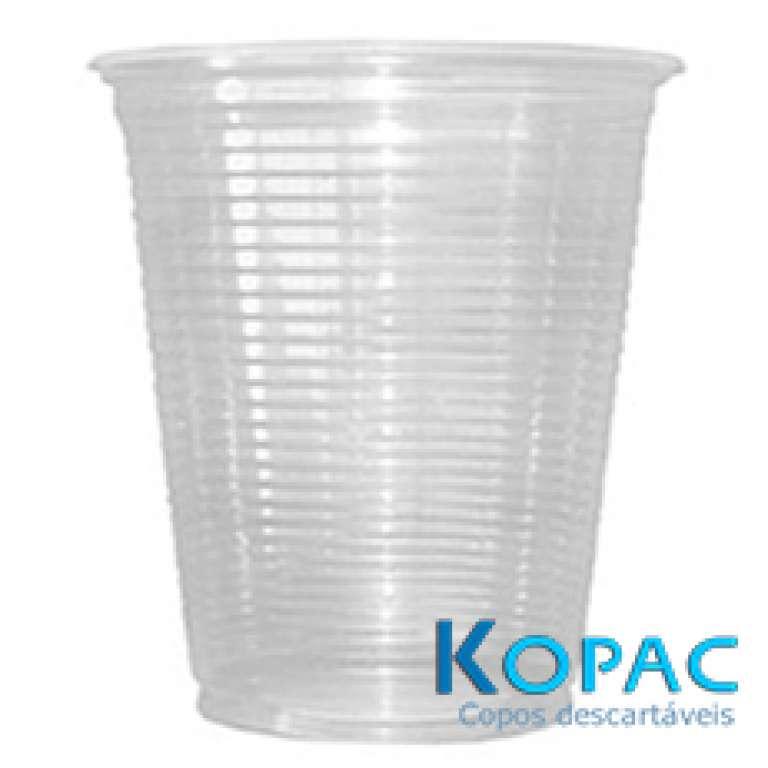 KOPAC - COPO 180ML PLASTICO PS TRANSPARENTE  - CX.25X100UN